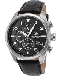 Ben Minkoff - Martin Multi-function Black Genuine Leather And Dial Ss - Lyst