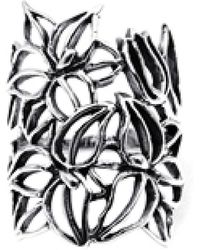 Aeravida - See Through Wild Flower .925 Sterling Silver Ring - Lyst