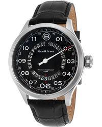 Ben Minkoff - Arrow Black Genuine Leather And Dial Ss - Lyst