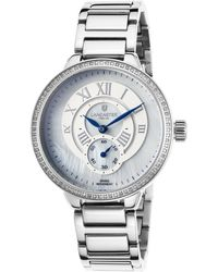 Lancaster Italy - Women's 1p/halley Diamonds Stainless Steel White Mop Dial Ss - Lyst