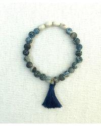 Botticelli's Niece - Blue Swirl Pottery Tassel Bracelet - Lyst