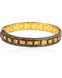 Socheec - Citrine And Diamond Bracelet - Lyst
