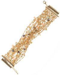 Jardin - Multi Stranded Bracelet With Crystals - Lyst
