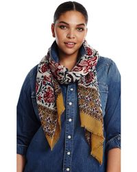 Lucky Brand - Floral Vine Scarf - Lyst