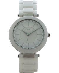 DKNY - Ny2291 Stanhope White Ceramic Bracelet Watch - Lyst