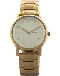 DKNY - Ny2343 Soho Gold-tone Stainless Steel Bracelet Watch - Lyst