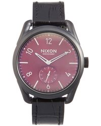 Nixon - C39 Leather Watch - Lyst