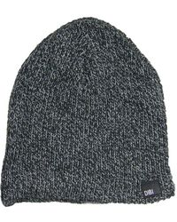c003c362946 Lyst - Dibi Navy Cable Knit Fur Lined Beanie in Purple for Men