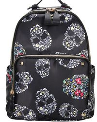 Bungalow 20 - Floral Skull Backpack - Lyst