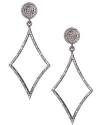 Vanhi - 2.15 Cts Diamonds And Sterling Silver Earrings - Lyst
