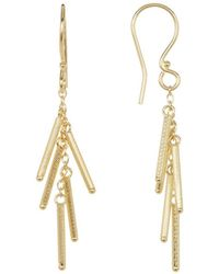 Adornia - Yellow Gold Vermeil Matte Multi Bar Earrings - Lyst
