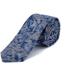 W.r.k. - W.r.k Blue Paradise Foliole Linen Tie - Lyst