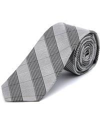 W.r.k. - W.r.k Silver Plaid Silk Tie - Lyst