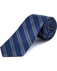 W.r.k. - W.r.k Blue Fancy Contrast Striped Silk Tie - Lyst
