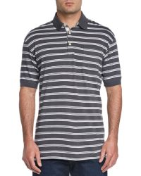 Cutter & Buck - Link Stripe Cotton Polo - Lyst
