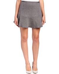 Line & Dot - Daria Quilted Flare Skirt - Lyst