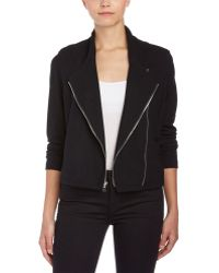 Fifteen Twenty - Asymmetrical Zip Crop Jacket - Lyst