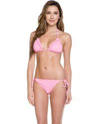 "Lilly Pulitzer - """"sandi"""" Pretty Pink Dot Dot Dot String Bikini Bottom - Lyst"