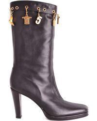 Dirk Bikkembergs - Women's Black Leather Ankle Boots - Lyst