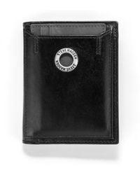 Steve Madden - Grommet Glazed Leather L-fold Wallet - Lyst