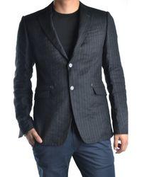 CoSTUME NATIONAL - Men's Mcbi074007o Grey/black Wool Blazer - Lyst