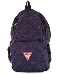 Guess - Men's Blue Polyester Backpack - Lyst