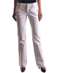 CoSTUME NATIONAL - Women's Mcbi074028o White Cotton Jeans - Lyst