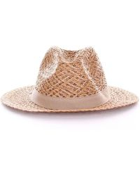 Armani - Women's Beige Canvas Hat - Lyst