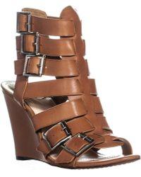 Vince Camuto - Martez Wedge Sandals, Fudge - Lyst