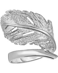 Jewelry Affairs - Sterling Silver Leaf Design Ring, Size 7 - Lyst