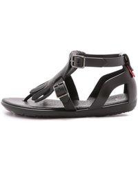abd1b3229edc Lyst - Alfani Bay Men Open Toe Synthetic Slides Sandal in Black for Men