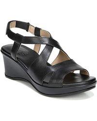 Naturalizer - Veera Women Wedge Sandals, Black - Lyst