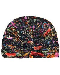 Roberto Cavalli - Multicolor Floral Print Ruched Silk Blend Jersey Turban - Lyst