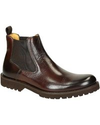 Leonardo Shoes - Men's Brown Leather Ankle Boots - Lyst