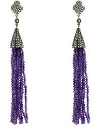 Socheec | Amethyst Tassel Earrings | Lyst