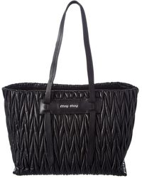 Miu Miu - Matelasse Large Leather Tote - Lyst