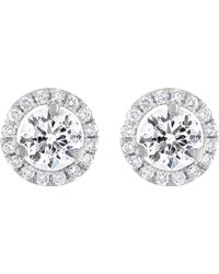 Diana M. Jewels - 18k White Gold Stud Earrings With 2.15 Carats Of Total Diamond Weight - Lyst