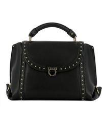 Ferragamo - Women's Black Leather Handbag - Lyst