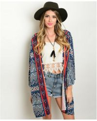Leather And Sequins - Desert Tribe Kimono - Lyst