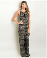 Leather And Sequins - Rose Halter Jumpsuit - Lyst