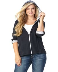 Patchington - 3/4 Sleeve Hoodie With Dot Trim - Lyst