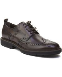 Tod's - Men's Leather Brogue Oxford Shoes Brown - Lyst