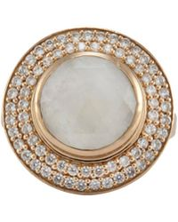 Melinda Maria - Jade 14k Plated Moonstone & Cz Ring - Lyst