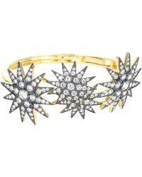 Jardin - 18k Plated Cz Starburst Bracelet - Lyst