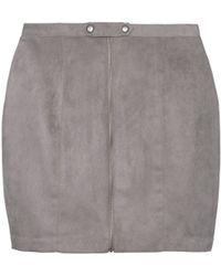 Olive & Oak - Carlotta Suede Skirt - Lyst