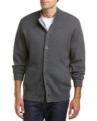 RAFFI - Wool-blend Stand-up Collar Cardigan - Lyst