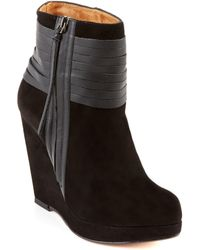 Ella Moss - 'eliza' Suede And Leather Wedge Ankle Boot - Lyst
