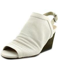 Naya - Luxor Open Toe Leather Wedge Sandal - Lyst
