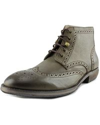 Andrew Marc - Hillcrest Mid Round Toe Leather Oxford - Lyst