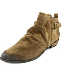 Naughty Monkey - Buckle Me Up Women Round Toe Suede Bootie - Lyst